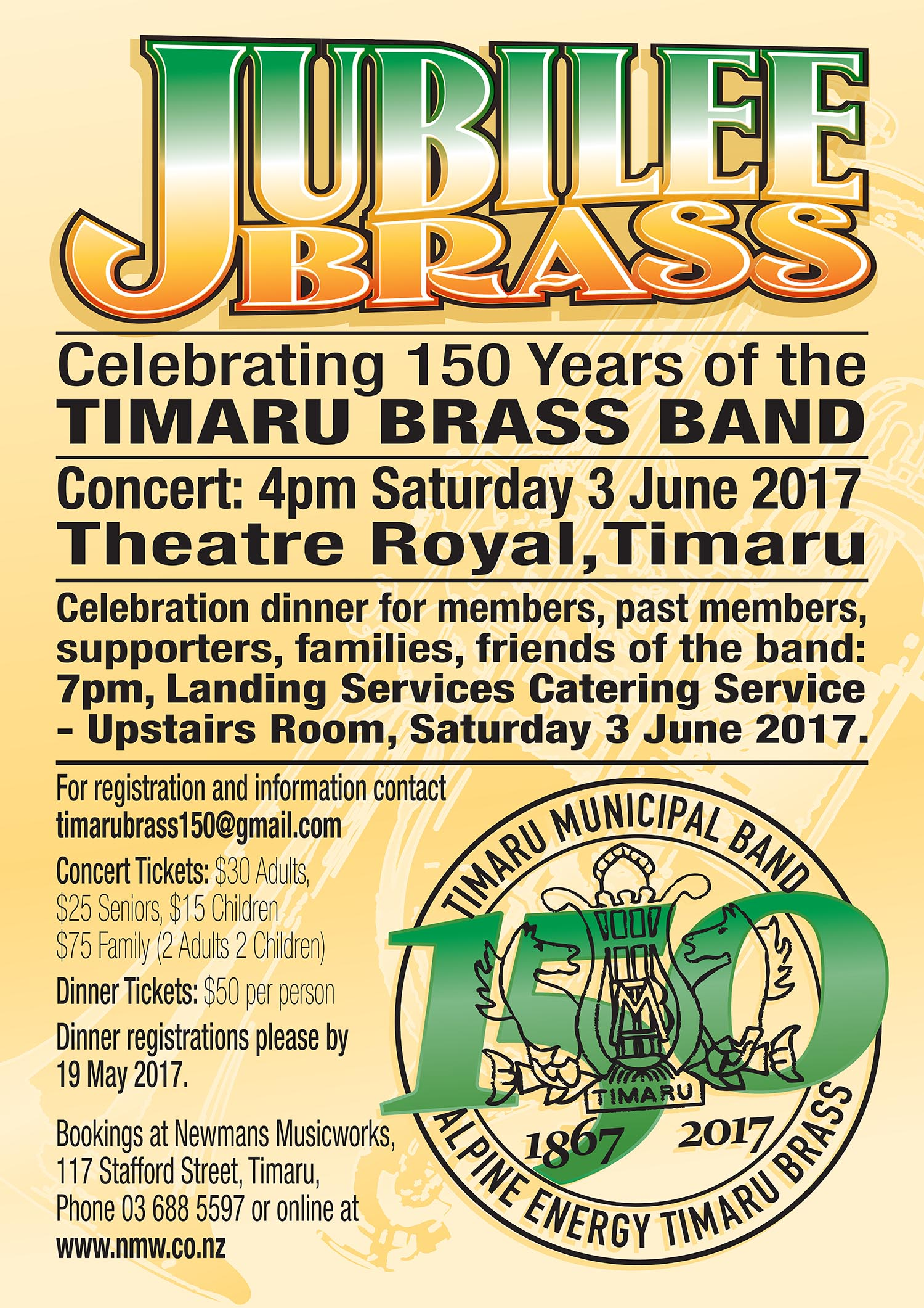 Jubilee Brass - Celebrating 150 Years of the Timaru Brass Band