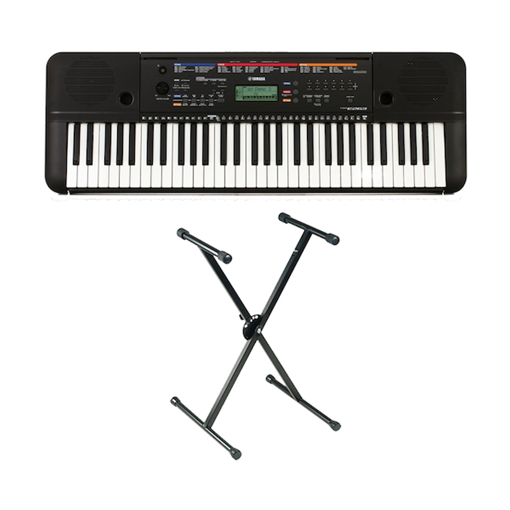 Yamaha PSRE263 Portable Keyboard and KSS79 Stand